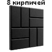 Плитка террасная полимерпесчаная 450*450*30мм черная